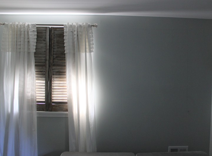 adj bedroom wall with shutters