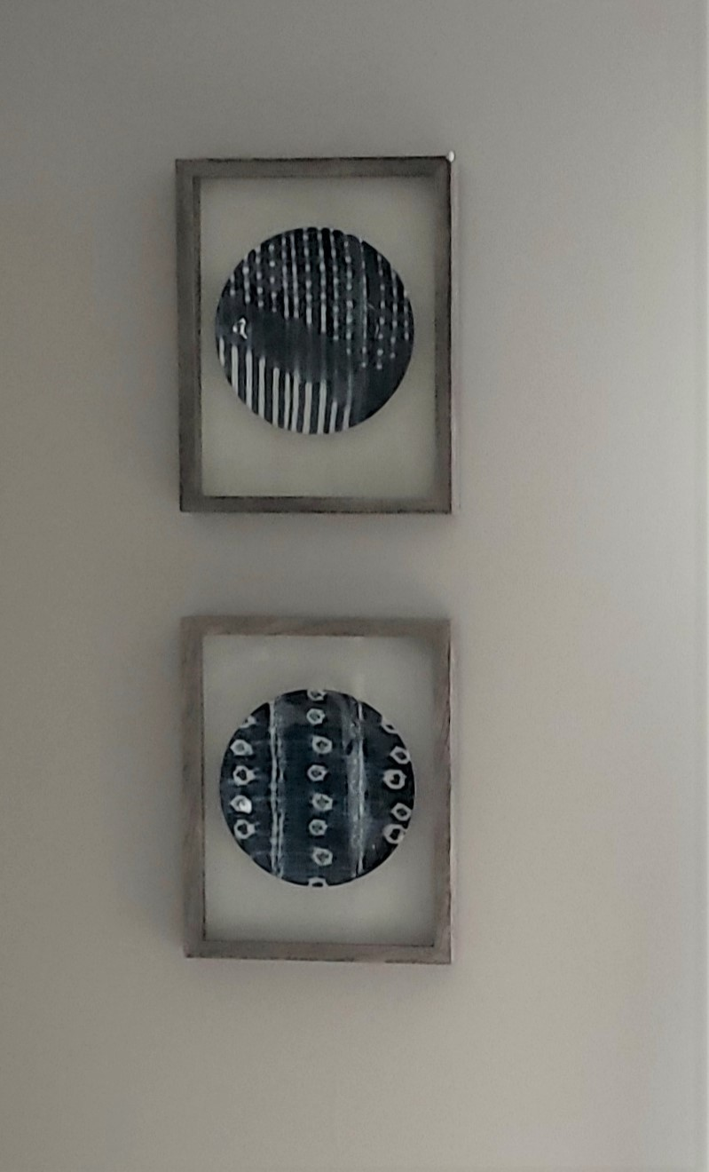 plates in frame